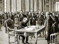 Treaty of Versailles- was one of the peace treaties at the end of World War I. It ended the state of war between Germany and the Allied Powers. It was signed on 28 June exactly five years after the assassination of Archduke Franz Ferdinand. Treaty Of Versailles, Palace Of Versailles, Hall Of Mirrors, Canadian History, Life Magazine, World War I, Wwi, Greece, Aussies