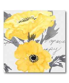 This Poppy Yellow I Wrapped Canvas by Courtside Market is perfect! #zulilyfinds
