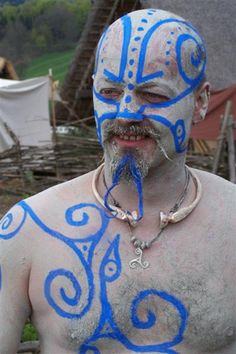 The gallery for --> Celtic War Face Paint Designs Face Painting Designs, Paint Designs, Body Painting, Irish Celtic, Celtic Art, Celtic Tribal, Larp, Celtic Dress, Renaissance