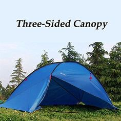 Outdoor Large Three-sided Canopy Awning Tent Beach Sun Shade Rainproof UV-proof For Camping Hiking Camping Canopy, Beach Camping, Outdoor Camping, Outdoor Gear, Pop Up Beach Tent, Camping Shelters, Tent Awning, Tent Stakes, Tent Accessories