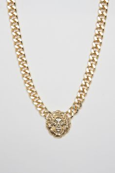 ShopSosie Style : Royal Lion Head Necklace