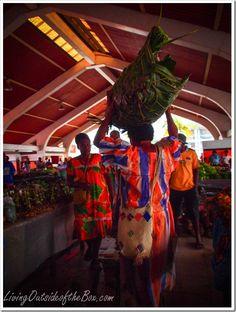 Large local market in Port Vila, Vanuatu