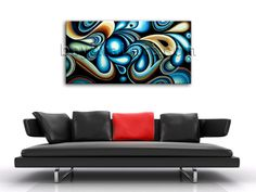 Elegant designed 1-panel giclee print on artist canvas with Abstract in Contemporary style. It is available in numerous sizes to fit any size room!