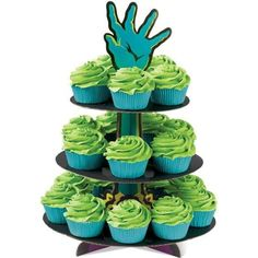 Haunted Hand Cupcakes ❤ liked on Polyvore featuring food and food and drink