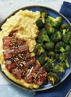 Simple, convenient, and delicious: that's what's in store with our Teriyaki Steak recipe, made with pre-measured, high-quality ingredients. Easy Steak Recipes, Healthy Dinner Recipes, Beef Recipes, Cooking Recipes, Steak Dinner Recipes, Turkey Recipes, Teriyaki Steak, Teriyaki Sauce, Plats Healthy