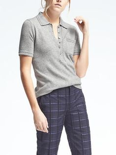 Italian Cashmere-Blend Sweater Polo BR