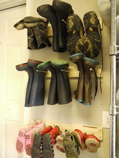 Boot rack-really need this. Alone, I have 6 pairs of boots!