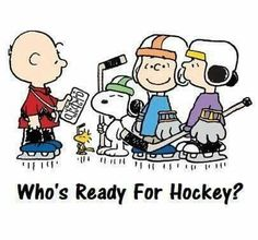 Charlie Brown & Buddies Ready to Play Hockey! Snoopy Love, Charlie Brown And Snoopy, Snoopy And Woodstock, Hockey Memes, Hockey Quotes, Funny Hockey, Digital Art, Hockey Pictures, Punisher