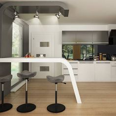 gotowy projekt domu Z378 – aranżacja wnętrz, Parterowy dom z garażem dwustanowiskowym. House Plans Mansion, Concept Home, Home Projects, New Homes, Mansions, Table, Furniture, Home Decor, Collection