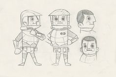 Spaceman character design by Andrew Kolb | www.kolbisneat.com