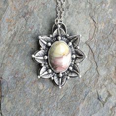 Carrasite Jasper Cabochon set in Fine Silver. Designer Cabochon Jewelry for Charity.