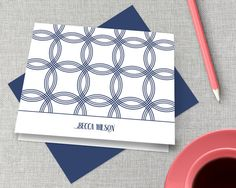 PERSONALIZED STATIONERY This lovely personalized stationery set makes a wonderful gift for friends, family — or yourself! A great idea for