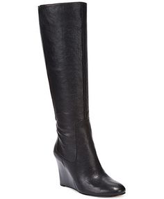 Nine West Heartset Tall Wedge Dress Boot. Would like them in brown. I love wedges!