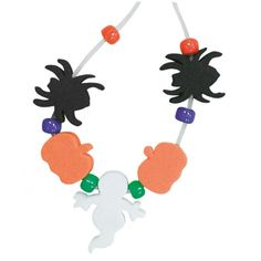 Hobbycraft Make Your Own Halloween Foam Bead Necklace Kit Assorted | H