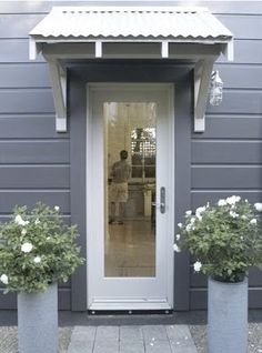 Portico | Door Awning | Covering | Metal Roofing | Brackets | Simple Entrance | Entry