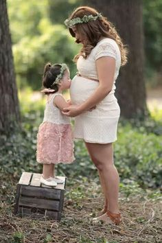 Cute maternity shot with a toddler