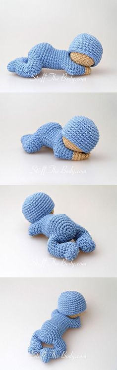 Sleeping Baby Amigurumi Pattern Plus