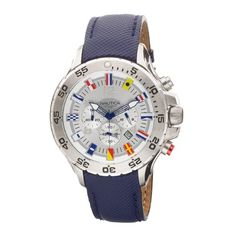 Men's Wrist Watches - Nautica Mens N16530G NST Chronograph Blue Polyurethane Watch *** More info could be found at the image url. (This is an Amazon affiliate link)