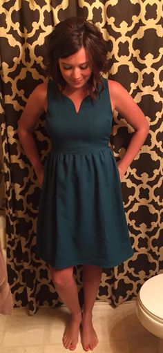 This would be a great color on me, and I really like the neckline, which isn't too low cut and adds some interest.