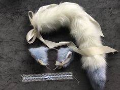 by NaughtyPleasures on Etsy Beautiful Kittens, Pretty Cats, Cute Cosplay, Anime Cosplay, Cat Ears And Tail, Daddy's Little Boy, Winter Wolves, Wolf Ears, Furry Tails