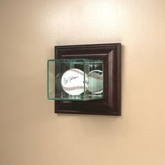 Wall Mounted Baseball Display Case, Autographed Baseball Case