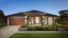 Browse the various new home designs and house plans on offer by Carlisle Homes across Melbourne and Victoria. Find a house plan for your needs and budget today! Facade Design, Exterior Design, House Design, House Canberra, Single Storey House Plans, Carlisle Homes, Steel Framing, Modern Bungalow House, Building Contractors