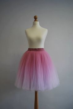 Gradient Ballerina : hand dyed ombre tulle by WardrobeByDulcinea
