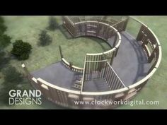 Created for Grand Designs by Clockwork Digital Pacific Yurts, Yurt Living, Unusual Buildings, Curved Walls, Dome House, Round House, Grand Designs, House Layouts, Building Design