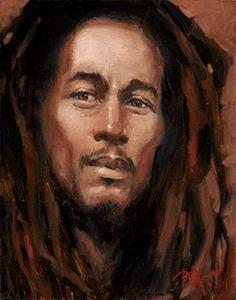 Bob Marley by BUA - Original in Private Collection - #ART #Reggae #Love