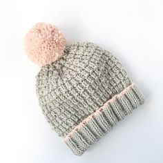 Bobble pom pom hat knitting project shared on the LoveKnitting community. Find this project and more inspiration at LoveKnitting.Com!