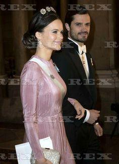 The King's dinner for the Nobel Laureates, Royal Palace, Stockholm - 11 Dec 2016  Princess Sofia, Prince Carl Philip  11 Dec 2016