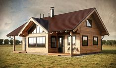 Risultati immagini per maison bois madrier Style At Home, Log Cabins Uk, Log Cabin Designs, 2 Bedroom House, House Viewing, Exterior Colors, Log Homes, Bed Design, Home Fashion