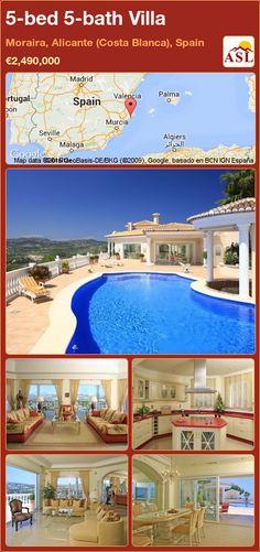 5-bed 5-bath Villa in Moraira, Alicante (Costa Blanca), Spain ►€2,490,000 #PropertyForSaleInSpain