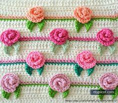 Des boutons de roses pour nos princesses : je vous propose ce tuto de mypicot qui peut être utilisé pour nos princesses, en gilet, veste ...