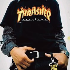 Casual Outfit Using Thrasher Magazine Thrasher Outfit, Thrasher Magazine, Cool Outfits, Casual Outfits, Vetement Fashion, My Outfit, Street Wear, Screen Wallpaper, Sweatshirts