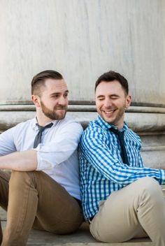 same sex wedding engagement session