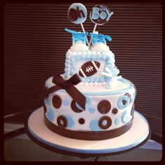 Baby shower sports themed cake