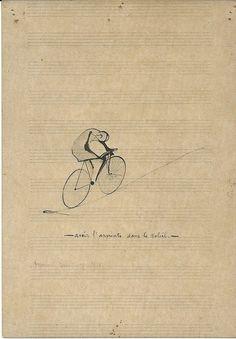 """Marcel Duchamp - """"Avoir l'apprenti dans le soleil [To Have the Apprentice in the Sun]"""", 1914 Bike Drawing, Drawing Sketches, Drawings, Drawing Room, Bike Illustration, Illustration Vector, Vladimir Kush, Gil Elvgren, Tattoo Bauch"""