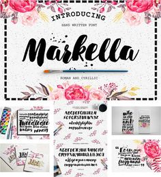 Description: Markella is a hand-made brush font, including roman and cyrillic typefaces. For personal use only. Free for download. File format: .ttf, .otf, .woff, .eot for Photoshop or other vector software. File size: 6 Mb.