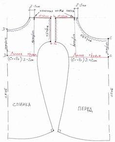 Крой сорочки. (19 век). Ширина по линии груди - Полуобхват груди + 5...10 см. Ширина рукава- Обхват руки в области подмышки + 5...10 см (аа+бб) Вырез горловины спереди и на спинке - желаемая величина (CC и DD) Сорочка длиной до колена.