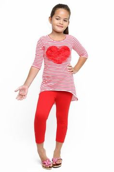a6bf27f255c36 2015 Haven Girl Heart Tunic and Legging Set at Cassie's Closet Girls  Valentine Dresses, Cassie