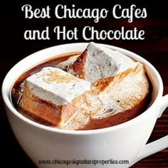 The best Chicago cafes for hot chocolate and coffee--curl up with a good book, a good friend, or just some good quiet time to get your work done? From Ispento to Eva's Cafe, Andersonville to the Loop.