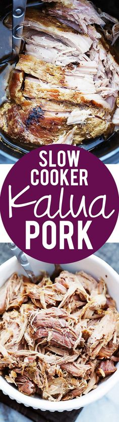 Slow Cooker Hawaiian-style Kalua Pork | Creme de la Crumb: