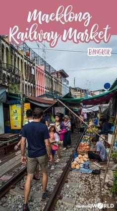 Visiting Maeklong Railway Market in Bangkok - Wandering the World Thailand Adventure, Thailand Travel Guide, Visit Thailand, Bangkok Thailand, Asia Travel, Wanderlust Travel, Thailand Resorts, Phuket, Backpacking Asia