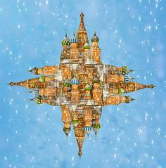 St. Basil's Red Square, print by Suzanne Powers $22.00