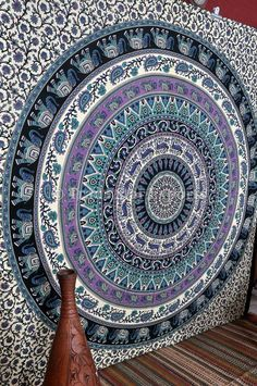 Bohemian Wall Tapestries Indian Bedding Queen by IndianHomeTextile