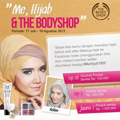 "Yuk, kamu ikutan ""Me, Hijab & The BodyShop"" ada hadiah Voucher & Produk Spesial dr The Body Shop. Caranya :klik on.fb.me/12FxMNw"
