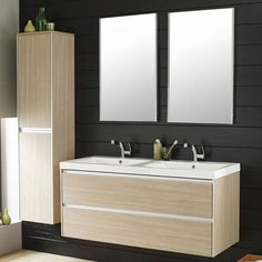 hudson reed ensemble meuble de salle de bains double vasque armoire de rangement riviera - Ensemble Vanite Armoire