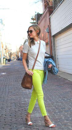 J Crew collared tee, Gap jeans (c/o), thrifted Gap jacket, Chloe bag, Zara heels, KW sunglasses