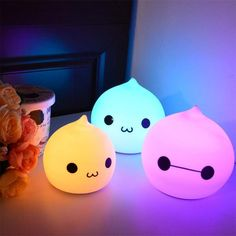Creative LED night light, Touch sensor, Lamp for kids Animal Night Light, Led Night Light, Lampe Led, Led Lamp, Cute Night Lights, Deco Led, Sweet Night, Bedroom Lamps, Gadgets And Gizmos